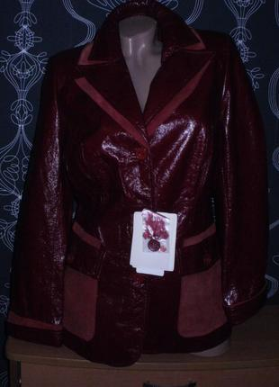 Куртка лаковая (кожа) натуралка. витрина