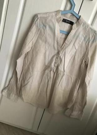 Индия, тоненькая невесомая  батистовая блуза рубашка