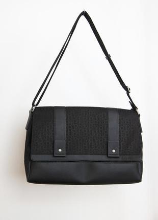 Calvin klein jeans monogram городская сумка с отделением для нетбука/планшета