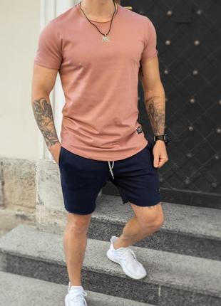 Комплект шорты + футболка кораллового цвета