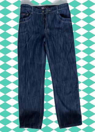 Синие джинсы на флисе