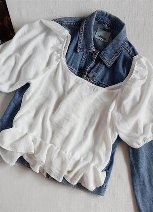 Модная блуза на пуговицах с рукавами фонарик new look3 фото