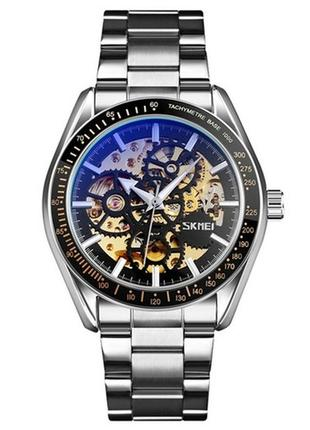 Часы skmei 9194 silver-black-gold