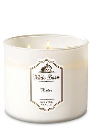 Свеча ароматизированная bath and body works winter 3-wick candle 411 г