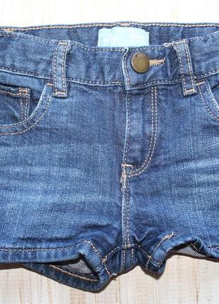 Джинсовые шорты gap на 3года на поясе утяжка состояние идеальное