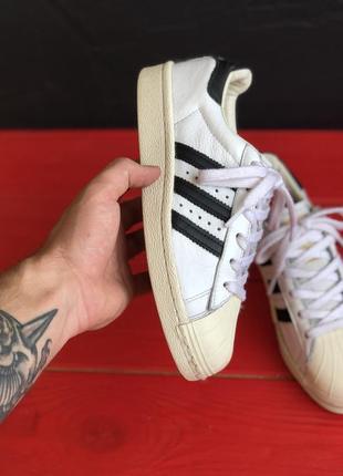 Кроссовки adidas super star boost белые