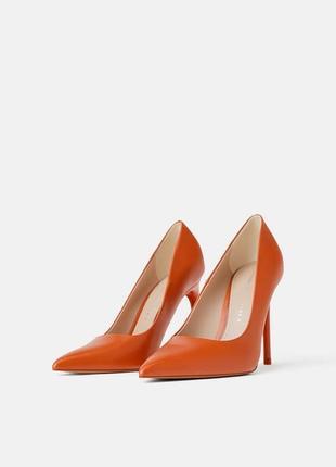 Туфли лодочки оранжевые, оригинал