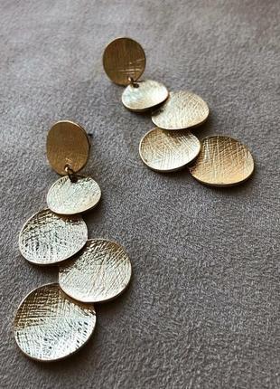 Шикарные серьги монетки в стиле zara
