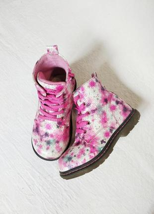 Милые яркие ботинки стелька 15,5 см