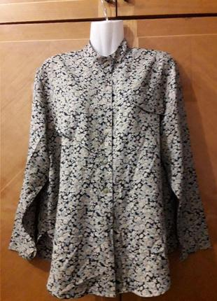 Стильная блуза  рубашка цветы