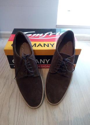 Классные кожаные мужские  туфли от немецкого бренда «zign»