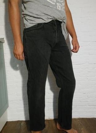 Джинсы мужские чёрные серые marks&spenser укороченные обрезанные