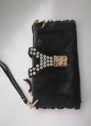 Шикарная сумочка-клатч из натуральной кожи