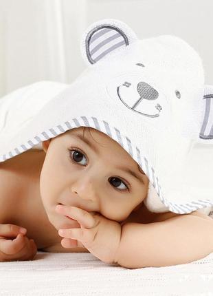 Премиальное детское банное полотенце с капюшоном - бамбуковое полотенце уголок -мишка
