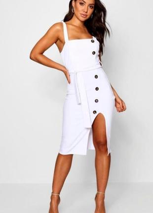 Платье с разрезом, платье с поясом, платье на брителях, платье с пуговицами
