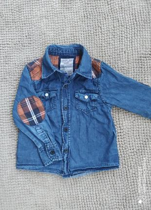 Сорочка джинсова