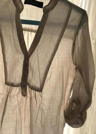 Индия, тоненькая невесомая батистовая блуза рубашка zara