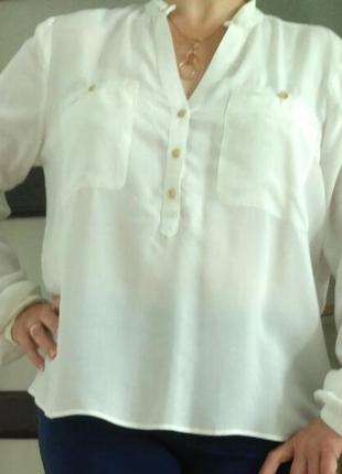Белая блуза рубашка  mexx  р.42