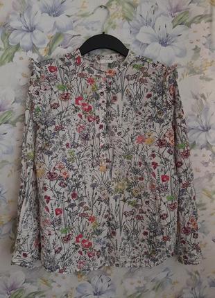 Хлопковая блуза в цветы !