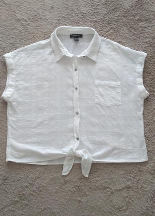 Белая блуза рубашка primark р.18/46