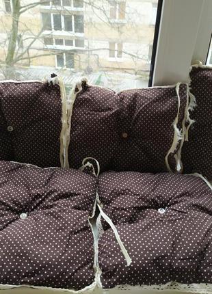 Комплект бортиков простынки и одеяла