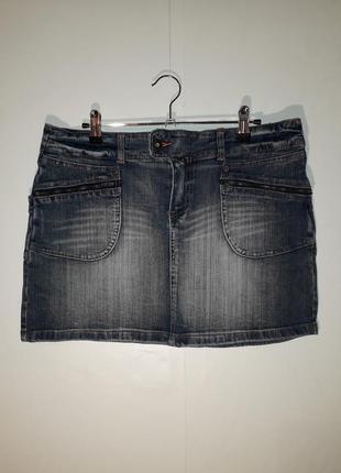 Юбка джинсовая синяя мини tu shuzy jeans