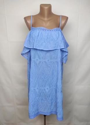 Платье новое голубое кружевное шикарное george uk 16-18