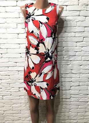 Яркое платье из вискозы