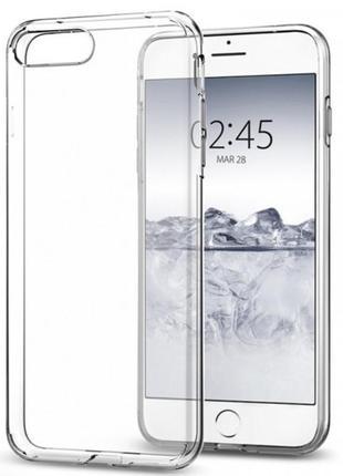 Прозрачный силиконовый чехол на iphone 7/8 plus