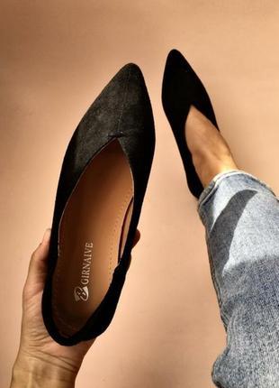Балетки туфли мюли бабуши лоферы острый носок туфлі мюлі бабуші лофери гострий носок