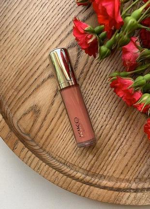 Блеск для губ помада kiko latex shine lip lacquer оттенок 03