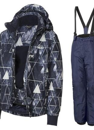Crivit. зимний костюм (куртка и штаны на подтяжках)