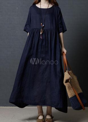 Крутое новое натуральное платье макси