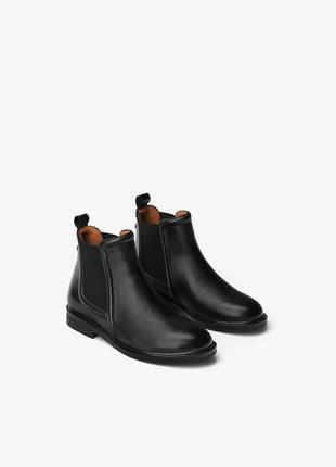 Ботинки - челси из натуральной кожа zara