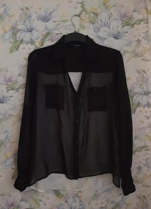 Шифоновая комбинированая блуза !