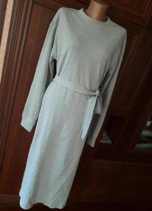 Хлопковое платье с разрезами