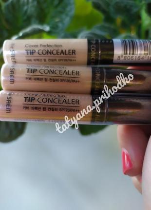Жидкий консилер the saem cover perfection tip concealer