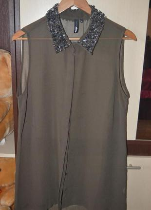 Блузка с шикарным воротником