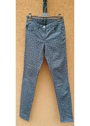 Леопардовыые джинсы, скинни h&m, трендовые джинсы
