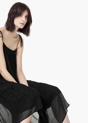 Коктейльное платье миди свободного кроя mango. оригинал