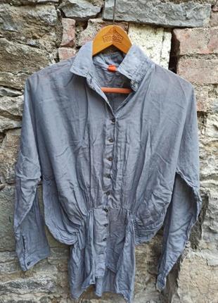 Шовк бавовна блуза блузка hugo boss