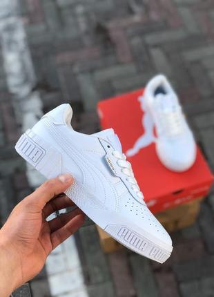 Шикарные женские кросовки puma cali all white