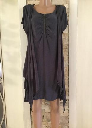 Оригинальное ассиметричное платье от soft b/состояние нового.