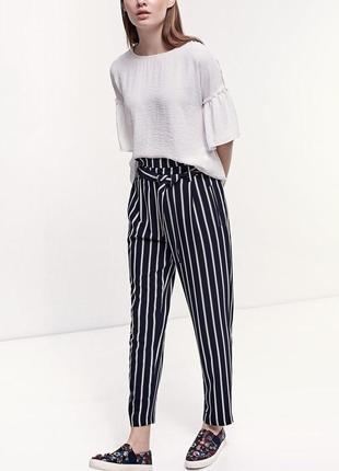 Классные укорочённые штаны в полоску