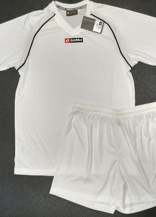 Оригинал! футбольный костюм lotto белый
