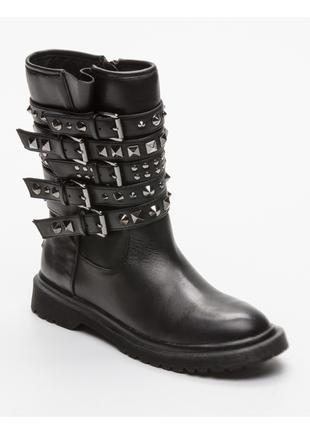Новые ботинки guess кожа с модными заклёпками сапоги ботильоны гес