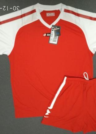 Оригинал! футбольный костюм lotto красный