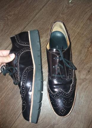 Кожаные оксфорды,туфли