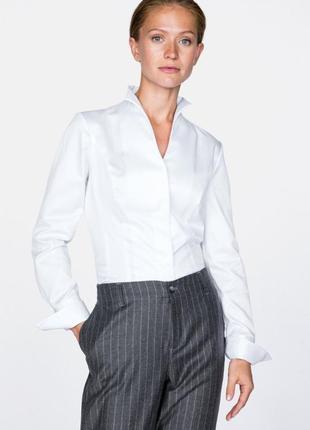 Van laack натуральная стильная белая блуза рубашка