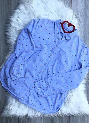 Милейшая рубашка в сердечки tom tailor